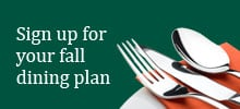 Sign up dining plan